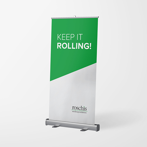 POS Rollup-Banner - roschis Medienproduktion